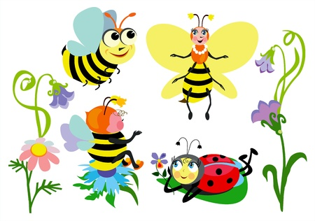 small group of animal: Funny insects