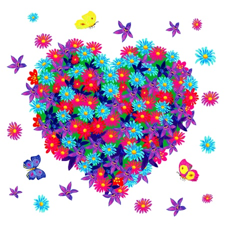 heart of flowers Stock Vector - 13486851