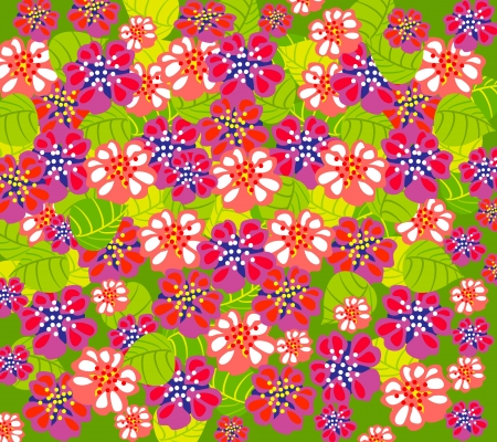bright summer floral background Illustration