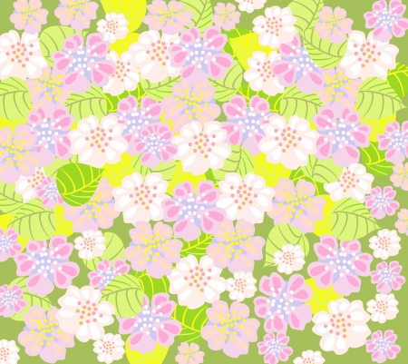 delicate spring floral background Stock Vector - 13603223