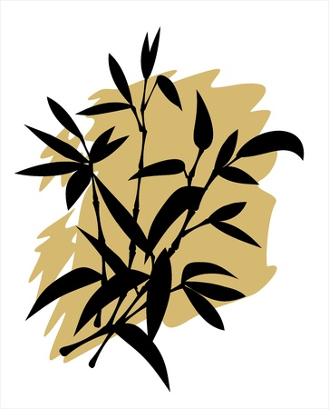 bamboo silhouette Illustration