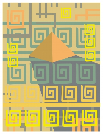 abstract background with Egypt symbols
