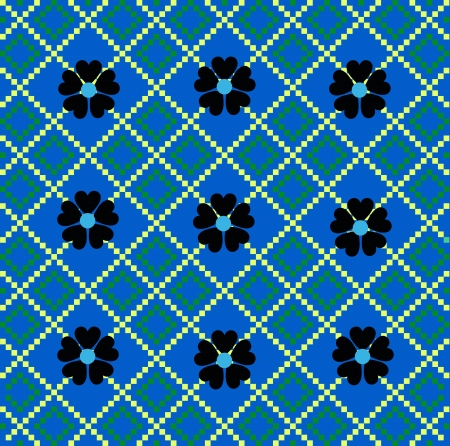 blue mosaic background Illustration