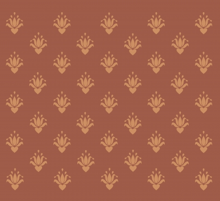 brown background with vintage patterns Illustration