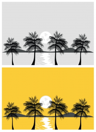 tropical banners and backgrounds Vector