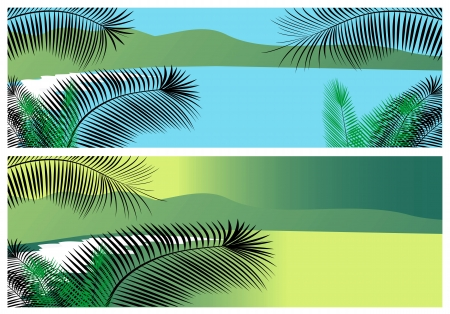 tropical sea banners Stock Vector - 14002313