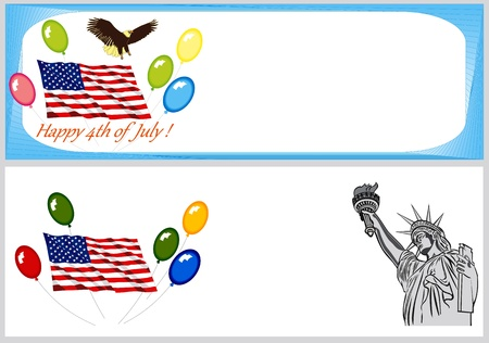 Independence Day backgrounds and banners Illustration