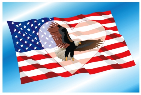 background with USA national symbols Stock Vector - 14062427