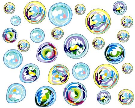 multi-colored bubbles background Stock Vector - 14062462