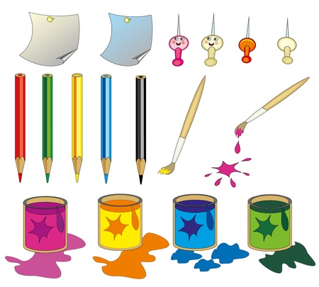 colours tints: set of isolated vector objects to draw