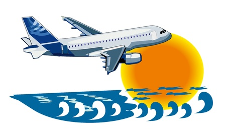 vector background about travel by plane