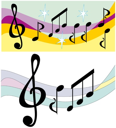 music banners Stock Vector - 14308818
