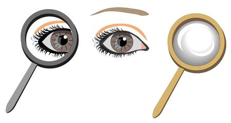 manifying de vidrio con los ojos