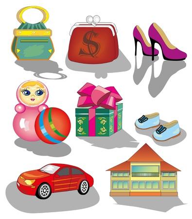 car clothes: beautiful vector shop icons