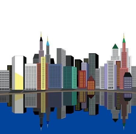 new york street: ville sur la rivi�re