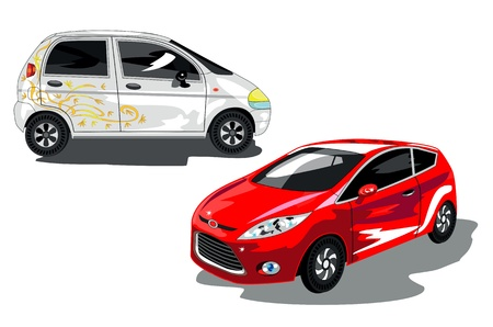 white and red cars for women