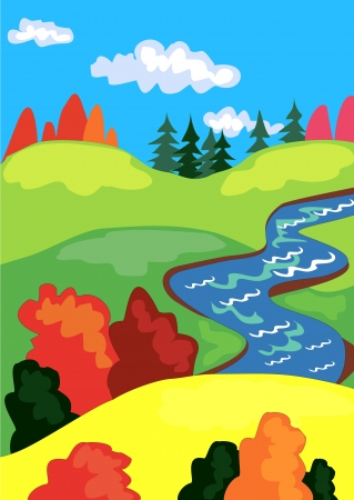 beautiful autumn landscape Stock Vector - 15149972