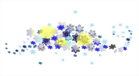Beautiful winter  patterns with wave of snowflakes Stock Vector - 15477582