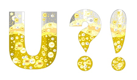 alphabet with bubbles of champagne (U?!)