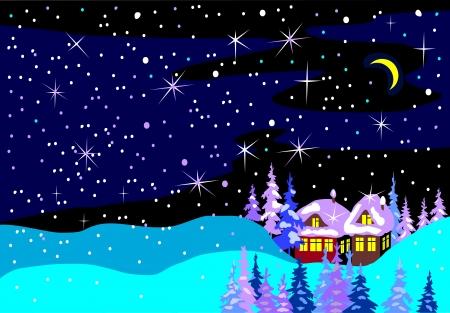 palle di neve: paesaggio invernale blu Vettoriali