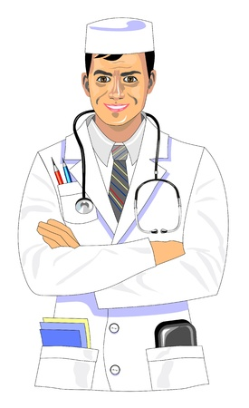 Smiling doctor  Stock Vector - 17153078