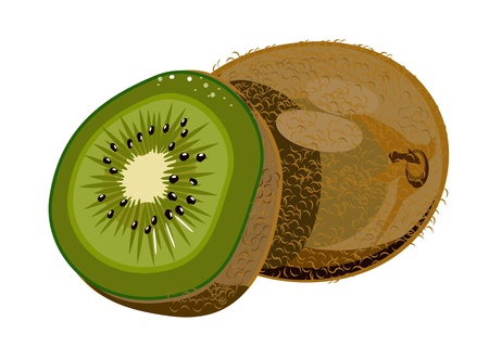 vector isolated kiwi Stock Vector - 17380189