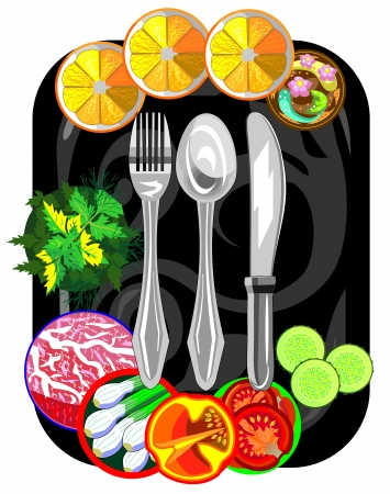 Vector icon for restaurant and cafe Stock Vector - 19088339