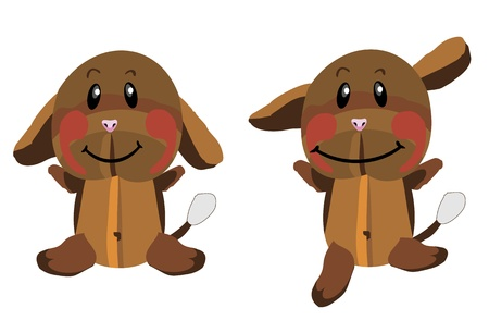plush dog  Illustration