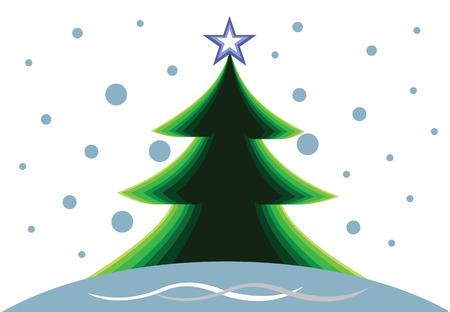 Background with Christmas tree Illusztráció
