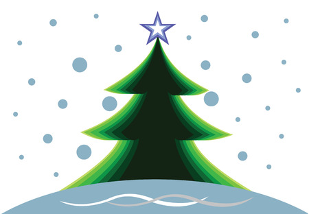 Background with Christmas tree Illustration