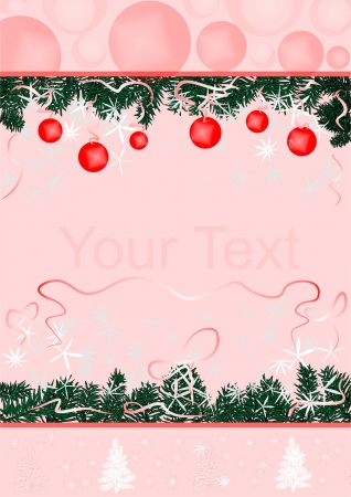 Christmas, new year, postcard Vector