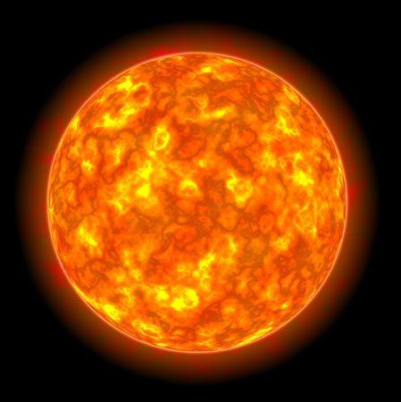 Star Sun on black background photo