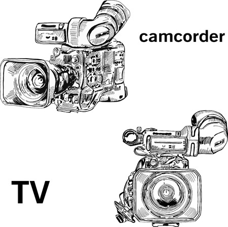 camcorder: the camcorder operator broadcaster TV report