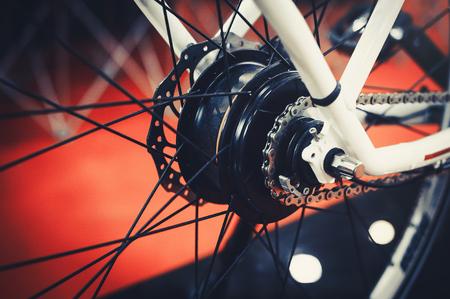 motor electric bike installed in the wheel, motor wheel, green technology, environmental care.