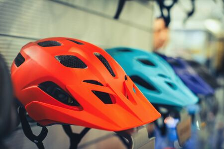 bicycle helmet, outdoor safety, sports and leisure accessories for sale Banque d'images