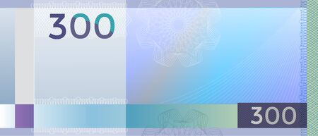 Gift certificate, Voucher, Coupon template with colorful guilloche pattern watermark . Background for banknote, money design, currency, note, check cheque , ticket, reward Rainbow color Vector