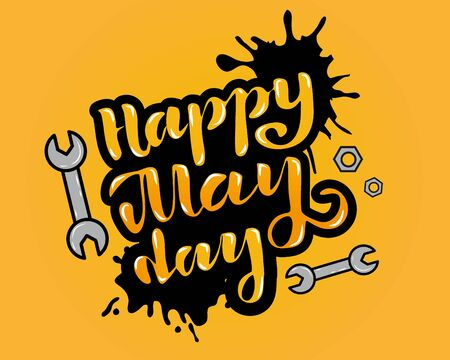 Vector illustration for happy May Day - Labor Day Celebration on May 1st. Vector illustration for Greetings, Banner, Background, Template, Badge, Symbol, Icon, Logo and Print design. Иллюстрация