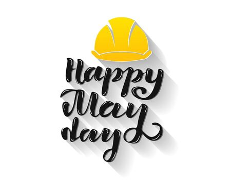 Vector illustration for happy May Day - Labor Day Celebration on May 1st. Vector illustration for Greetings, Banner, Background, Template, Badge, Symbol, Icon, Logo and Print design. Фото со стока