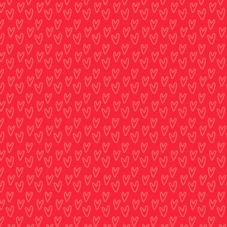 Hand-drawn romantic doodle hearts seamless pattern. Can be used for wedding invitation, card for Valentines Day or card about love.