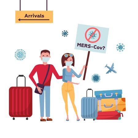 MERS-Cov middle East respiratory syndrome coronavirus , Novel coronavirus 2019-nCoV Ilustrace