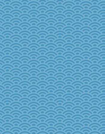 Seamless Traditional japanese seigaiha ocean wave pattern. Flat vector illustration. Imagens - 157076460