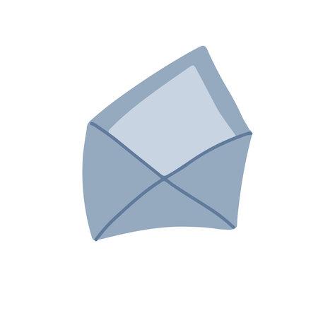 Open Envelope flat hand drawn icon. Simple vector illustration symbol.
