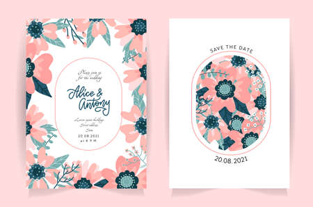 Set of flower wedding ornament concept. Art traditional, magazine, book, poster, abstract rose hip floral element. Vector layout decorative pastel greeting card or invitation flat design background.