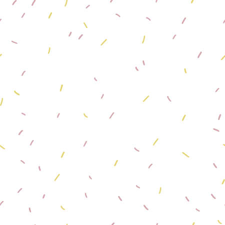 Multicolored confetti on white background, abstract minimalistic seamless pattern. Vector hand drawn flat illustration Иллюстрация