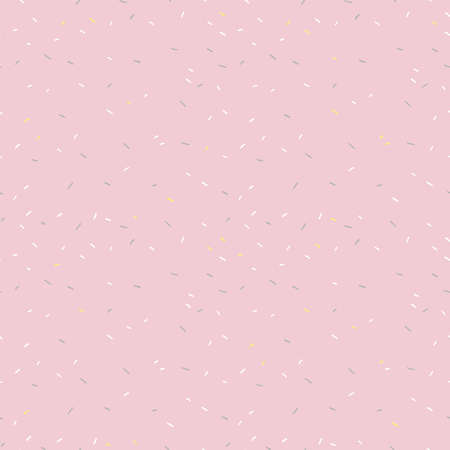 Seamless pattern of pink donut glaze cerface with many decorative sprinkles. Easy to change colors. Vector background design for banner, poster, flyer, card, postcard, cover, brochure.