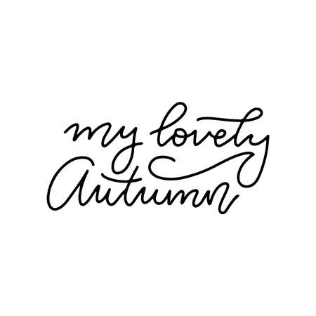 My lovely Autumn - Lettering calligraphy