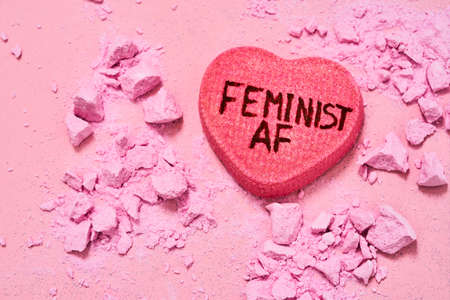 Feminism inscription as supporting for people