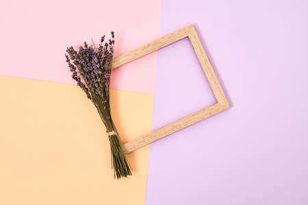 Flowers and frame for the day of March 8
