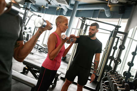 Workout adjusted to physical conditions of elder client