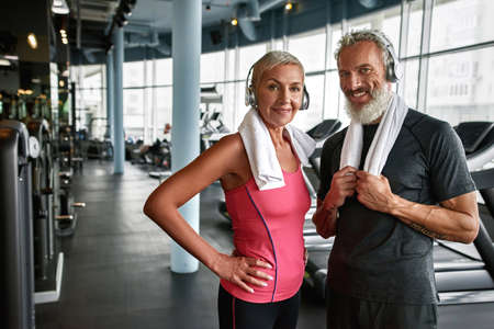 Couple of fit seniors living active life